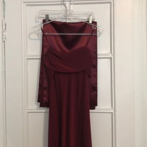Burgundy Gown Size 8